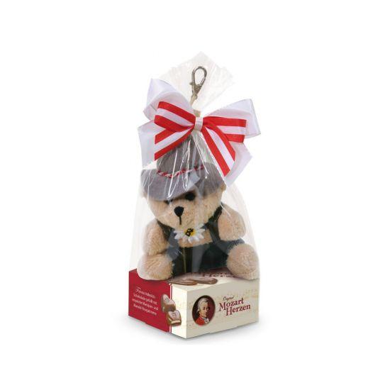 Schlüsselanhänger Bär auf Mozartherz 39g