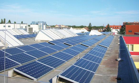 Photovoltaik-Anlage der Confiserie Heindl